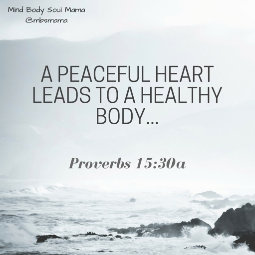 a peaceful heart leads to a healthy body...